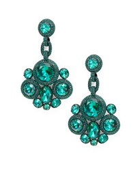 Kate Spade Green Stone Accented Drop Earrings