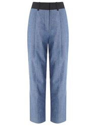 3.1 Phillip Lim Blue Denim Carrot Trousers