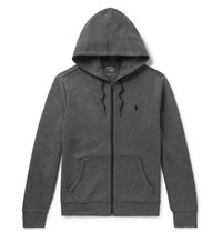 Polo Ralph Lauren Jersey Zip Up Hoodie Gray
