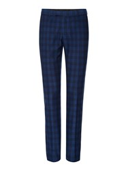 Label Lab Men's Turner Skinny Fit Large Scale Check Suit Trouser Blue