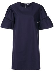 P.A.R.O.S.H. T Shirt Dress Women Cotton Xs Blue