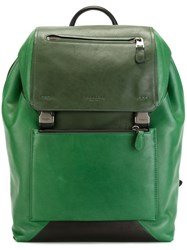 Coach Buckled Backpack Green