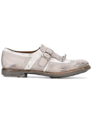 Church's Shanghai W Monk Strap Shoes Women Leather Rubber 36 Grey