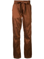 Manning Cartell Straight Leg Trousers Brown