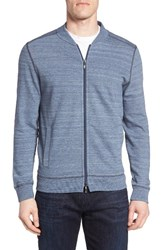 Robert Barakett Men's Wesley Front Zip Cotton Cardigan