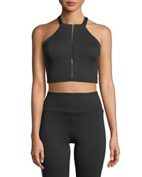 Michi Axial Strappy Back Performance Bustier Black