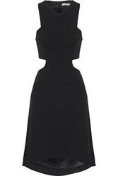 Halston Fluted Cutout Cady Dress Black
