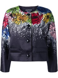 Boutique Moschino Floral Print Jacket Black