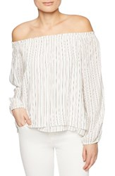 Sanctuary Women's Chantel Slit Sleeve Off The Shoulder Top