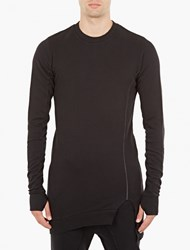 Thom Krom Black Elongated Sweatshirt