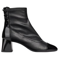 Geox 'S Block Heel Lace Back Ankle Boots Black