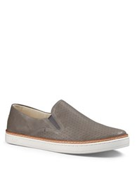 Ugg Keile Perforated Leather Slip On Sneakers Grey