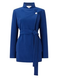 Jacques Vert Asymmetric Short Coat Blue