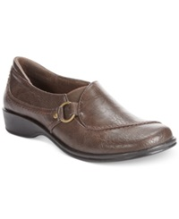 Easy Street Shoes Easy Street Grade Flats Women's Shoes Brown