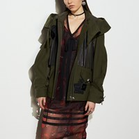 Coach Minimal Western Military Jacket Fern