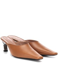 Marni Leather Mules Brown