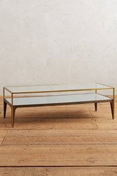 Anthropologie Silhouette Display Coffee Table Denim Light