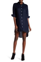 Allen Allen Linen Shirt Dress Blue