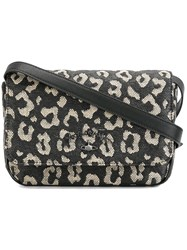 Vivienne Westwood Anglomania Leopard Print Crossbody Bag Black