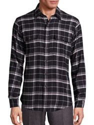 Polo Ralph Lauren Relaxed Fit Plaid Button Down Shirt Black White