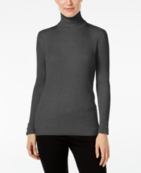 Styleandco. Style Co. Turtleneck Sweater Only At Macy's Steel Heather Grey