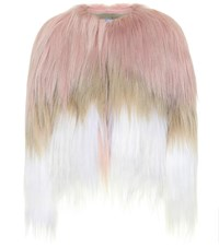 Red Valentino Cropped Fur Jacket Multicoloured