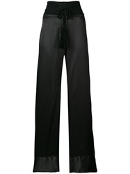 Ann Demeulemeester Flared Trousers Black
