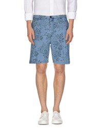 Closed Trousers Bermuda Shorts Men Blue