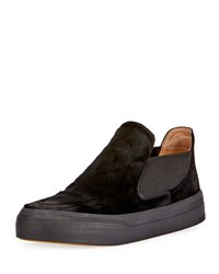 Dries Van Noten Calf Hair Slip On Sneaker Black