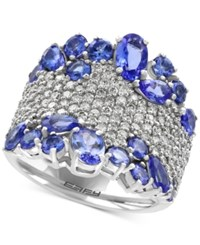Effy Tanzanite Royale Tanzanite 3 1 4 Ct. T.W. And Diamond 1 1 8 Ct. T.W. Ring In 14K White Gold