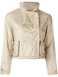 Aspesi Padded Cropped Jacket Women Polyester L Nude Neutrals