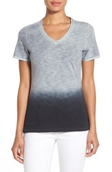 Elie Tahari Women's 'Chyka' Ombre Cotton V Neck Tee
