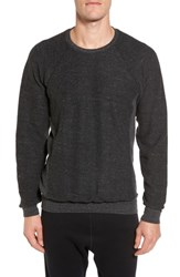 Alo Yoga Relaxed Fit Felted Sweatshirt Charcoal Black Triblend