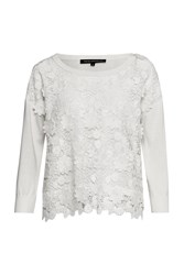 French Connection 3D Crochet Knitted Jumper White