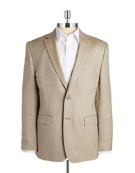 Vince Camuto Woven Blazer Brown