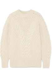 Alexander Mcqueen Cable Knit Wool Sweater Ivory