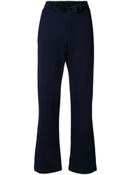 Moncler Flared Tailored Trousers Blue