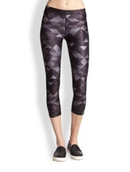 Zara Terez Triangle Print Cropped Leggings Black Multi
