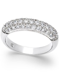 Macy's Diamond Pave Band 3 4 Ct. T.W. In 14K White Gold