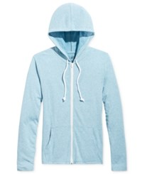 American Rag Men's Lightweight Full Zip Hoodie Only At Macy's Blue Storm