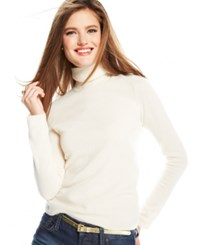 Charter Club Cashmere Turtleneck Sweater In 15 Colors Only At Macy's Ivory