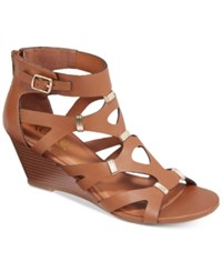 Xoxo Sarelia Wedge Sandals Women's Shoes Tan