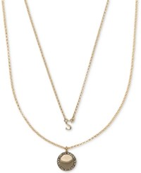 Ivanka Trump Gold Tone 2 Pc. Set Initial And Disc Pendant Necklaces Crystal S