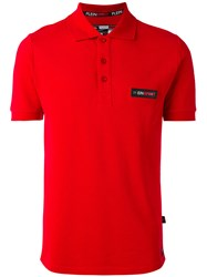 Plein Sport Chest Patch Polo Shirt Red