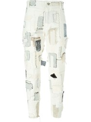 Heikki Salonen Skinny Fully Patched 5 Pocket Jean White