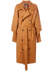 Y Project Oversized Trench Coat Brown