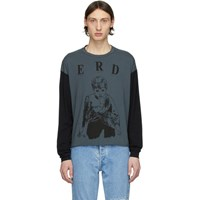 Enfants Riches Deprimes Grey And Black Printed Long Sleeve T Shirt