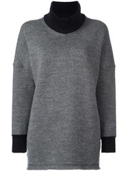 Comme Des Garcons Junya Watanabe V Neck Loose Fit Sweater Grey