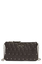 Miu Miu Quilted Nappa Leather Convertible Clutch