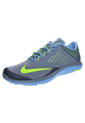 Nike Performance Fs Lite Run 2 Lightweight Running Shoes Blue Graphite Volt Blue Lagoon